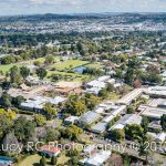 Aerial 100 years Fairholme College Toowoomba