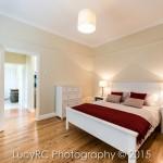 Bedroom with timber floor
