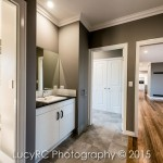 Interior paintwork in a new build home