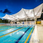 Twilight photo of Marist College Pool, Ashgrove Brisbane