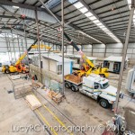 Construction industry housing modules ready for transport