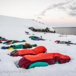 Sleeping on the ice
